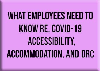 What Employees need to know RE. COVID-19